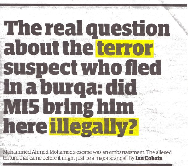 The Burka Ballad was based on this report in The Guardian, Nocvember 14, 2013