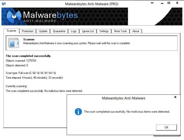 MalwarebytesResults