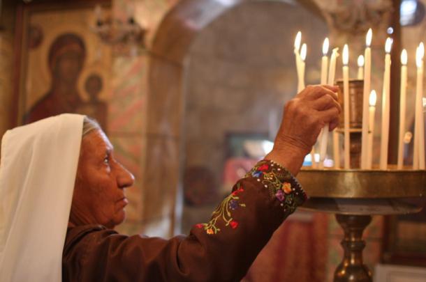PalestinianChristianCandles