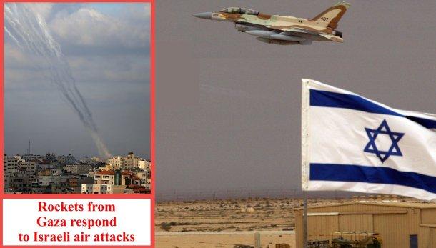 Gaza rockets respond to Israeli air attacks