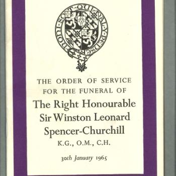 Churchill funeral order of service