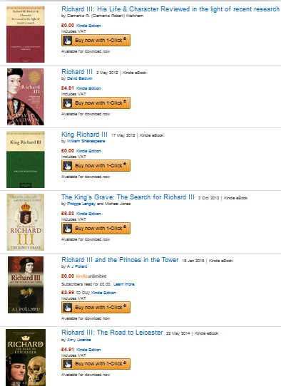 Richard3booksOnAmazon
